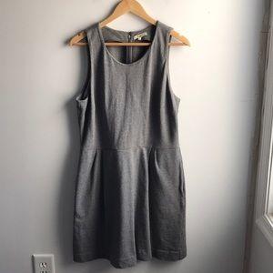 Madewell Verse heather gray cotton basic dress